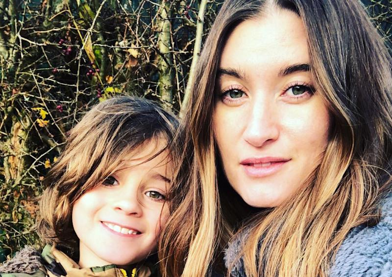 Charley Webb has defended herself and her sons, including Buster (pictured), against those who criticise their long hair. (Credit: Instagram)