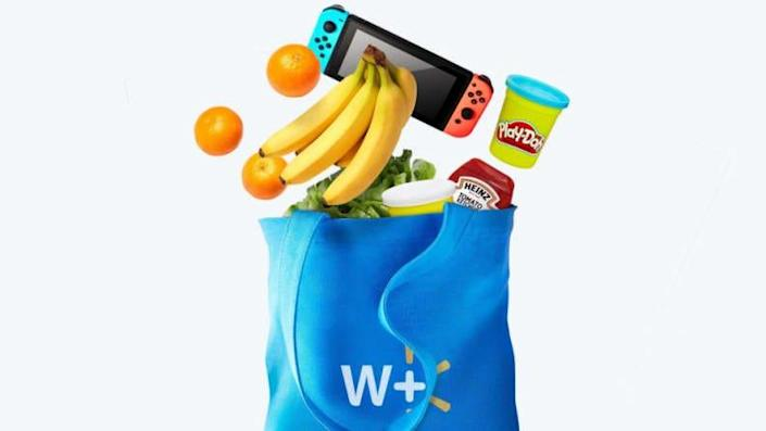 Walmart+ delivers groceries, tech, and more.