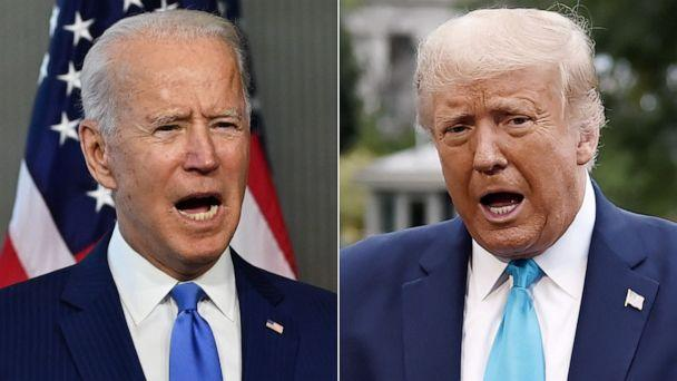 PHOTO: Former Vice President Joe Biden, left, and President Donald Trump, right. (AFP via Getty Images)