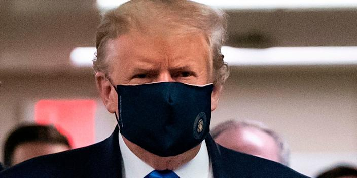 <br>Trump has begun to wear a mask in public — something he previously refused to do.