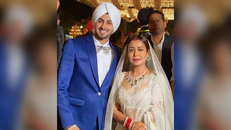 Neha Kakkar and Rohanpreet Singh Marriage: Pictures and Videos from the Newlyweds Lavish Wedding Reception Go Viral!