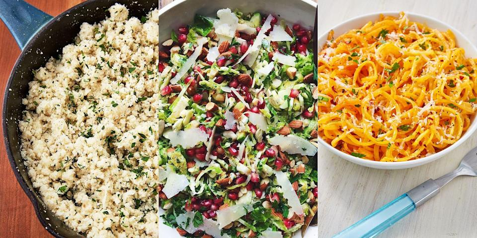 "<p>If you're one for low carb, veggie eating then it's likely you're on the hunt for some creative ways of cooking up a diet-appropriate, delicious storm. Lucky for you, we're pretty good when it comes to low carb. With everything from <a href=""https://www.delish.com/uk/cooking/recipes/a29696163/mashed-cauliflower-recipe/"" rel=""nofollow noopener"" target=""_blank"" data-ylk=""slk:Mashed Cauliflower"" class=""link rapid-noclick-resp"">Mashed Cauliflower</a> to <a href=""https://www.delish.com/uk/cooking/recipes/a30312166/zucchini-lasagna-roll-ups-recipe/"" rel=""nofollow noopener"" target=""_blank"" data-ylk=""slk:Courgette Lasagne Roll Ups"" class=""link rapid-noclick-resp"">Courgette Lasagne Roll Ups</a> on offer, let's just say you won't be going hungry if we've got anything to do with it. For the ultimate low carb vegetarian inspiration you need, check out some of our fave recipes now.</p>"