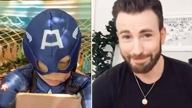 Chris Evans gifts heroic brother with a real Captain America shield