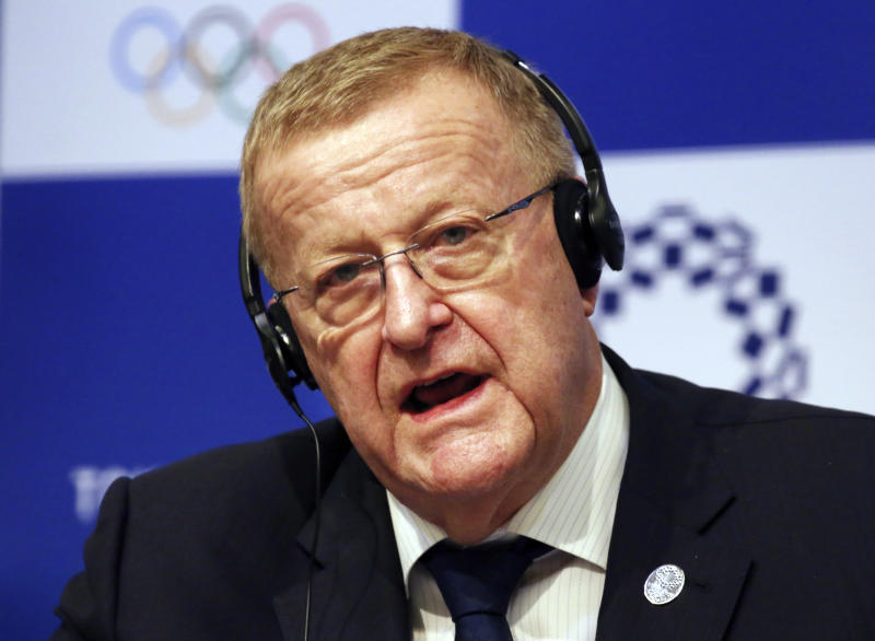 """Head of the IOC inspection team John Coates speaks during a press conference in Tokyo, Wednesday, Dec. 5, 2018. IOC President Thomas Bach has said no city has been """"as ready as Tokyo"""" to hold the Olympics. Bach and other International Olympic Committee are calling Tokyo the best prepared in recent memory with the games just 20 months away. (AP Photo/Koji Sasahara)"""
