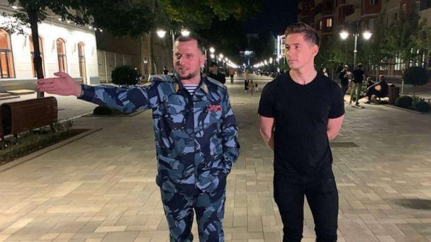 PHOTO: ABC News' James Longman spoke with Apti Alaudinov, the head of police in Chechnya, a Russian republic that has allegedly purged LGBTQ people over the last two years. (James Longman)