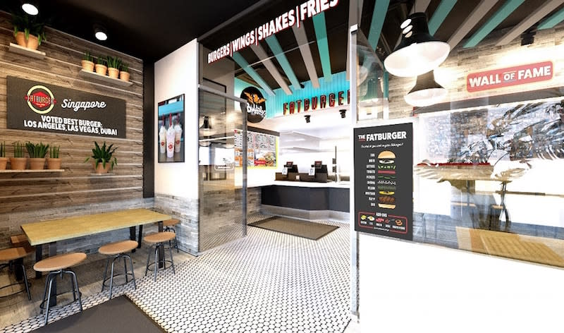 Artist rendering of the Singapore outlet. Photo: Fatburger Singapore/Facebook