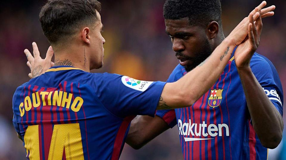 Samuel Umtiti y Philippe Coutinho, dos descartes del Barcelona   Quality Sport Images/Getty Images