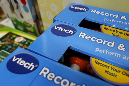 VTech's products are seen on display at a toy store in Hong Kong, China