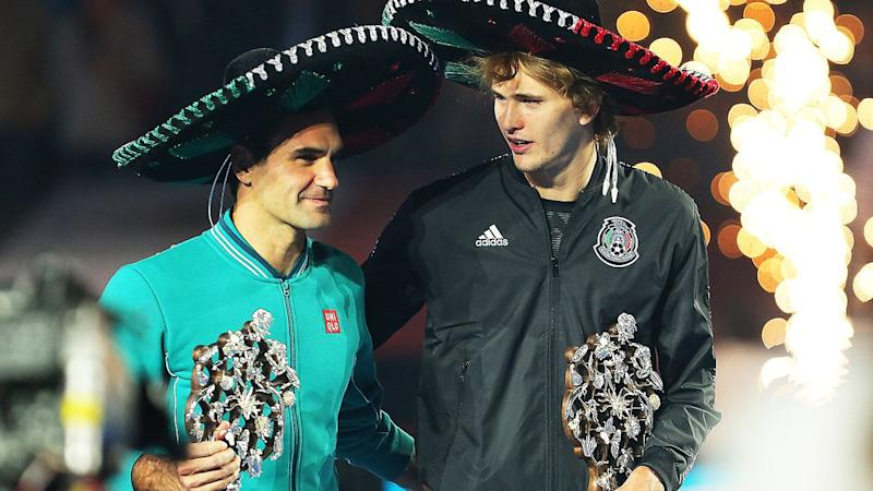 Roger Federer and Alexander Zverev, pictured here during 'The Greatest Match' in Mexico City.