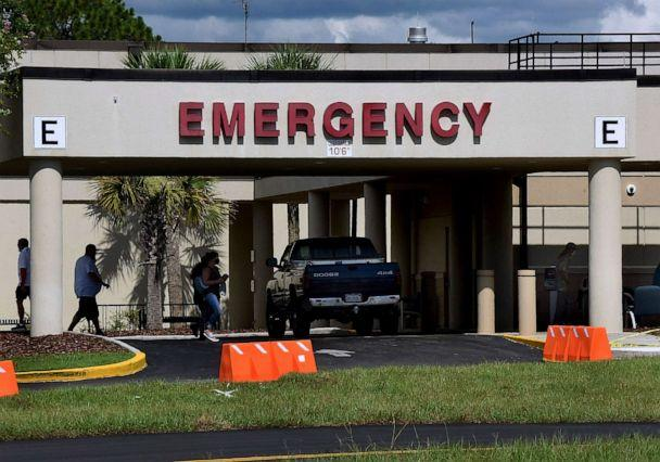 PHOTO: People are seen outside the entrance to the emergency room at Oak Hill Hospital in Hernando County, Fla., July 26, 2020. (Paul Hennessy/SOPA Images via Shutterstock)