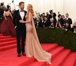 """<p>Is it any wonder Reynolds can't take his eyes off Lively at the 2014 <a href=""""https://www.elle.com/uk/fashion/a39815/met-gala-everything-you-need-to-know/"""" rel=""""nofollow noopener"""" target=""""_blank"""" data-ylk=""""slk:Met Gala?"""" class=""""link rapid-noclick-resp"""">Met Gala?</a></p>"""