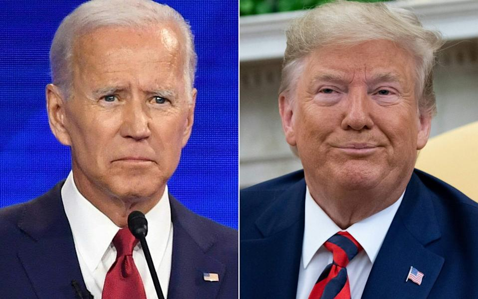 Despite trailing Democrat Joe Biden significantly in the polls, President Trump is still in with a shout of retaining the White House - Robyn Beck/AFP