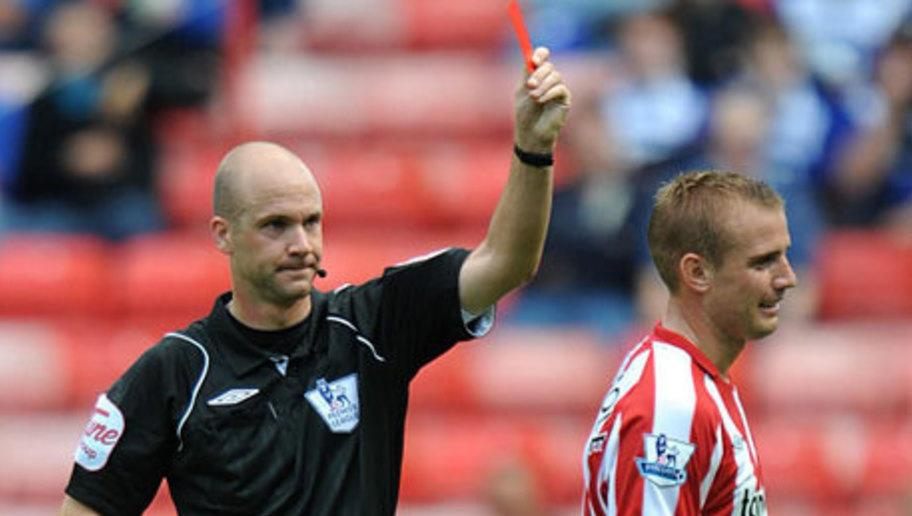 <p>In 2016 it was reported that Sunderland midfielder Lee Cattermole had received red and yellow cards more frequently than any player in the history of the Premier League.</p> <br /><p>The former Middlesbrough man's record of 1450 minutes per red card is one of the worst ever in the Premier League and by the age of 20 he had already been dismissed twice in his career.</p> <br /><p>His aggression and tough tackling have made him a respectable leader, however, and despite his seven dismissals he remains as vital as ever to the Sunderland starting eleven.</p>