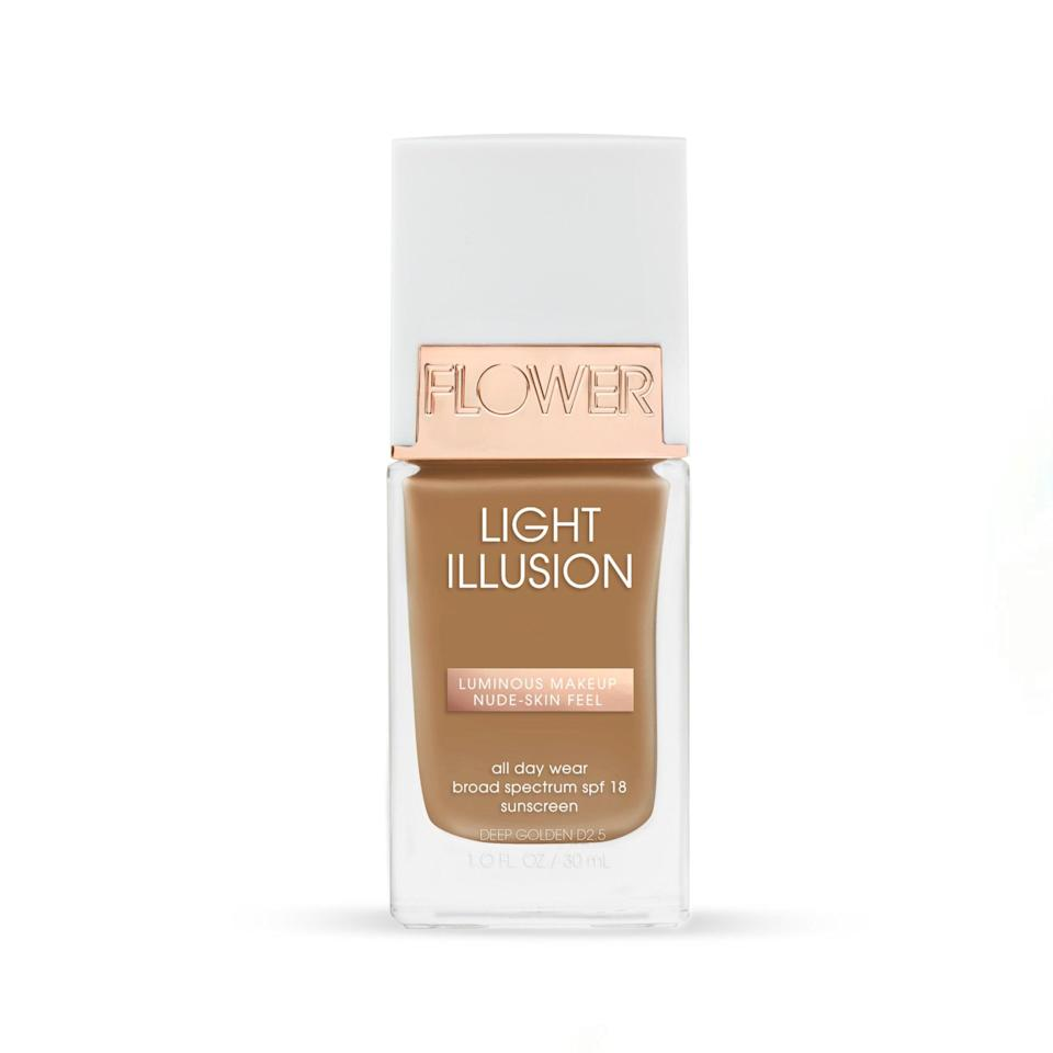 """This foundation feels way more expensive than it is. It covers everything I want it to, without feeling thick or heavy. Despite the coverage it has the prettiest luminous finish that looks very luxurious, and the undertones don't run too pink, which I always find with more inexpensive options. <em>—B.C.</em> $14, Flower Beauty. <a href=""""https://shop-links.co/1734689343844077599"""" rel=""""nofollow noopener"""" target=""""_blank"""" data-ylk=""""slk:Get it now!"""" class=""""link rapid-noclick-resp"""">Get it now!</a>"""