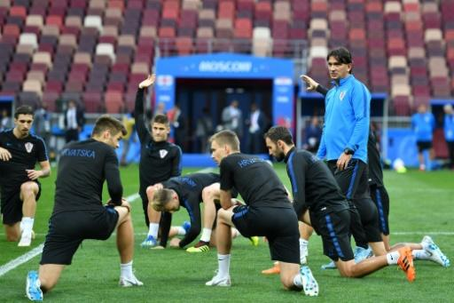 Croatia players trained on the Luzhniki Stadium pitch on Tuesday evening
