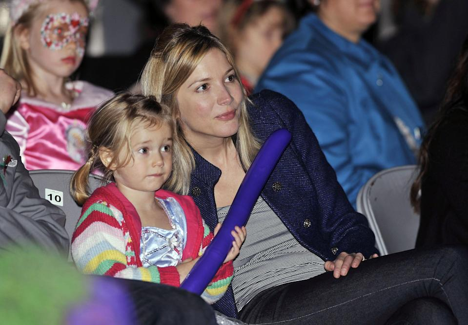 Lisa Faulkner and daughter Billie at the VIP launch of Disney On Ice presents Princess Wishes', at the O2 arena in East London.   (Photo by Matt Crossick/PA Images via Getty Images)