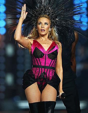 Singer Kylie Minogue performs during the Closing Ceremony for the Glasgow 2014 Commonwealth Games.