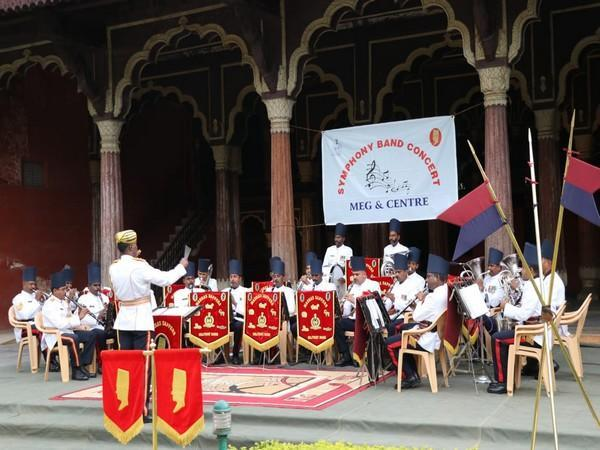 Madras Sappers Military band performing live at Tipu Sultan Palace. (Photo/ANI)