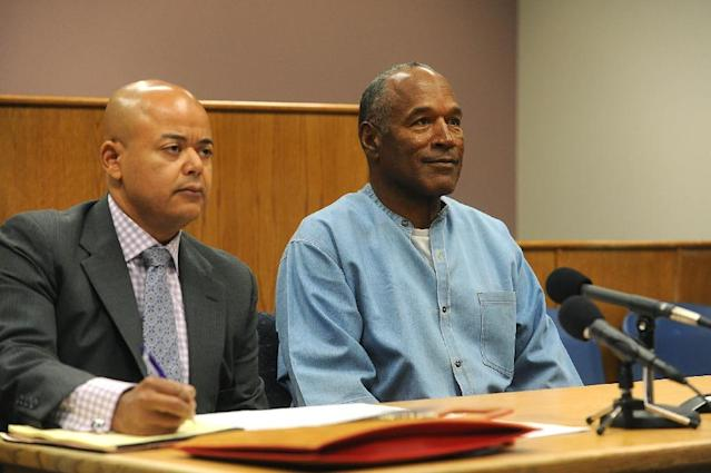 O.J. Simpson, seen here at a hearing in July 2017, was released from prison on parole (AFP Photo/Jason Bean)