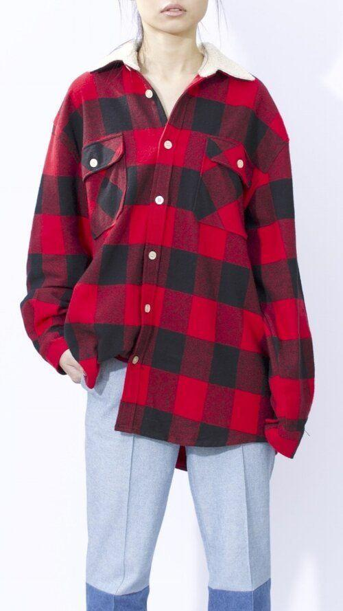 """<p><strong>Romeo Hunte</strong></p><p>romeohunte.com</p><p><strong>$850.00</strong></p><p><a href=""""https://www.romeohunte.com/shop-women/oversized-red-flannel"""" rel=""""nofollow noopener"""" target=""""_blank"""" data-ylk=""""slk:Shop Now"""" class=""""link rapid-noclick-resp"""">Shop Now</a></p><p>Wow, is this one pricey, but also flannels and the buffalo check pattern is kind of designer Romeo Hunte's thing. This is one of those pieces that lasts forever, and it's the right fit and style to wear as both a shirt and jacket. Throw it on with casual jeans or wear it with a midi skirt to dress it up. </p>"""