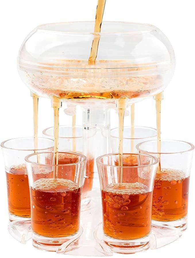 <p>Pour six shots at once with this nifty <span>Lareina Shot Dispenser with 6 Glasses</span> ($18). If you enjoy creating and experimenting with different types of shots, you'll be able to make a bigger batch with this. It'll come in handy for summer entertaining.</p>