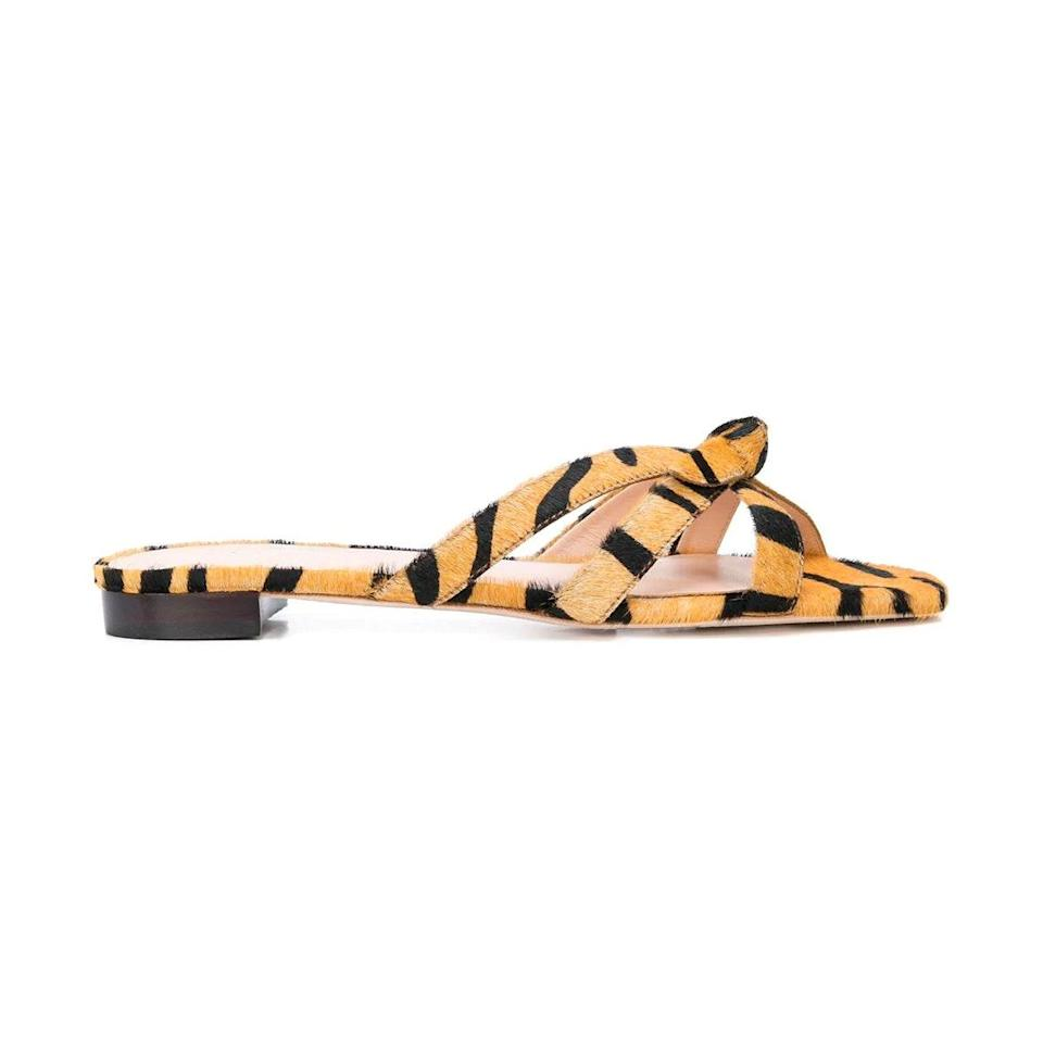 "$225, Shopbop. <a href=""https://www.shopbop.com/eveline-delicate-strap-flat-sandal/vp/v=1/1579778805.htm?"" rel=""nofollow noopener"" target=""_blank"" data-ylk=""slk:Get it now!"" class=""link rapid-noclick-resp"">Get it now!</a>"