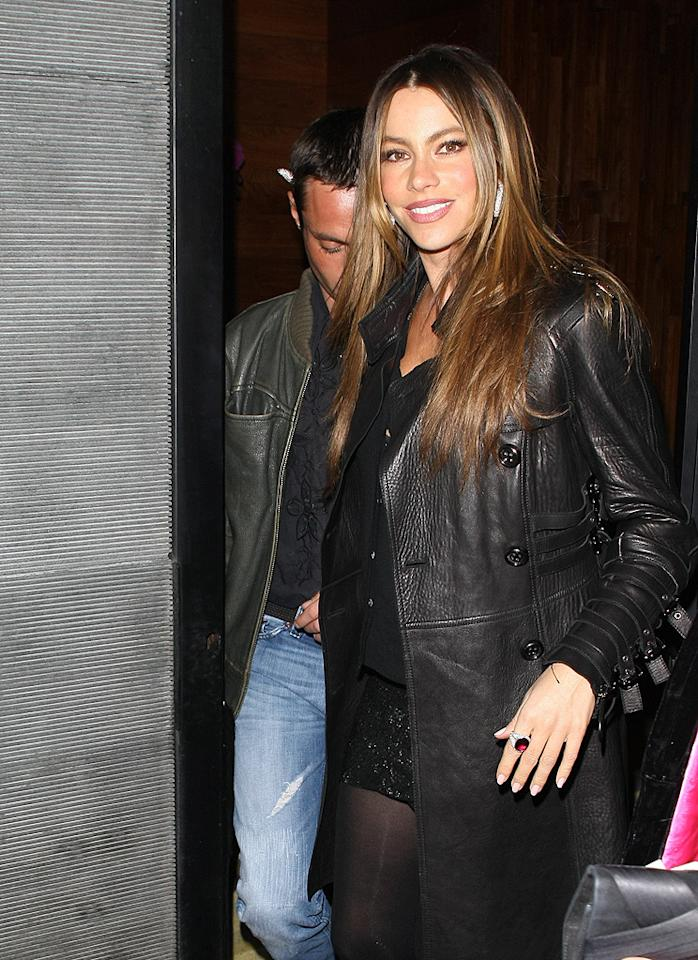 "Sofia Vergara enjoyed a Valentine's Day dinner -- but not with her boyfriend of two years, politician Nick Loeb. Instead, the ""Modern Family"" hottie stepped out with a mystery man, although based on other photos of the night, it didn't seem like a romantic outing. (2/14/2012)"
