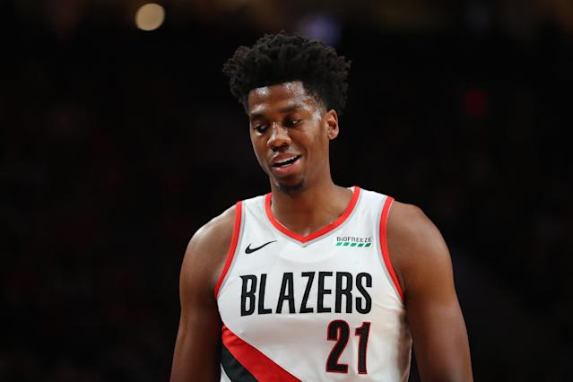Hassan Whiteside is catching plenty of blame for Portland's poor start. (Abbie Parr/Getty Images)