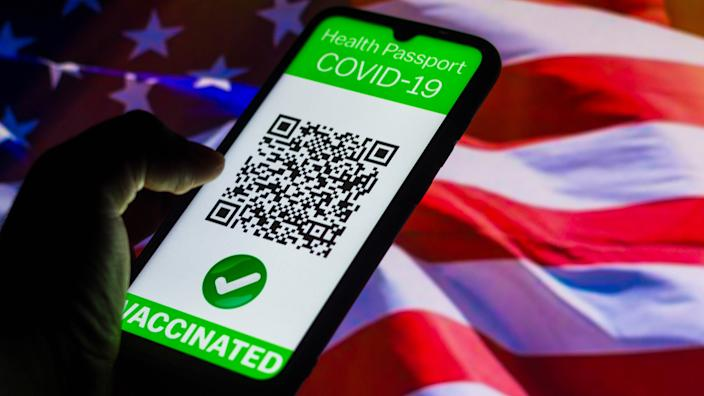 A symbolic COVID-19 health passport