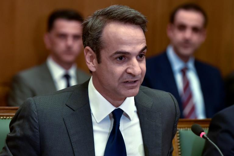 Mitsotakis' new conservative government has made boosting sluggish growth a priority (AFP Photo/Louisa GOULIAMAKI)