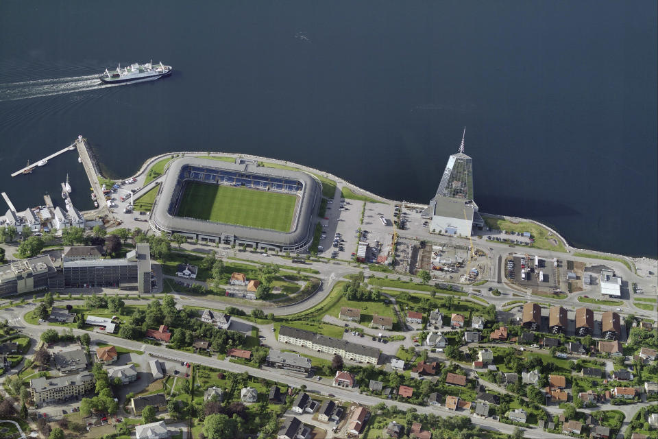 Aker Stadion in Norway, posted by u/drivecartoabar. (Getty)