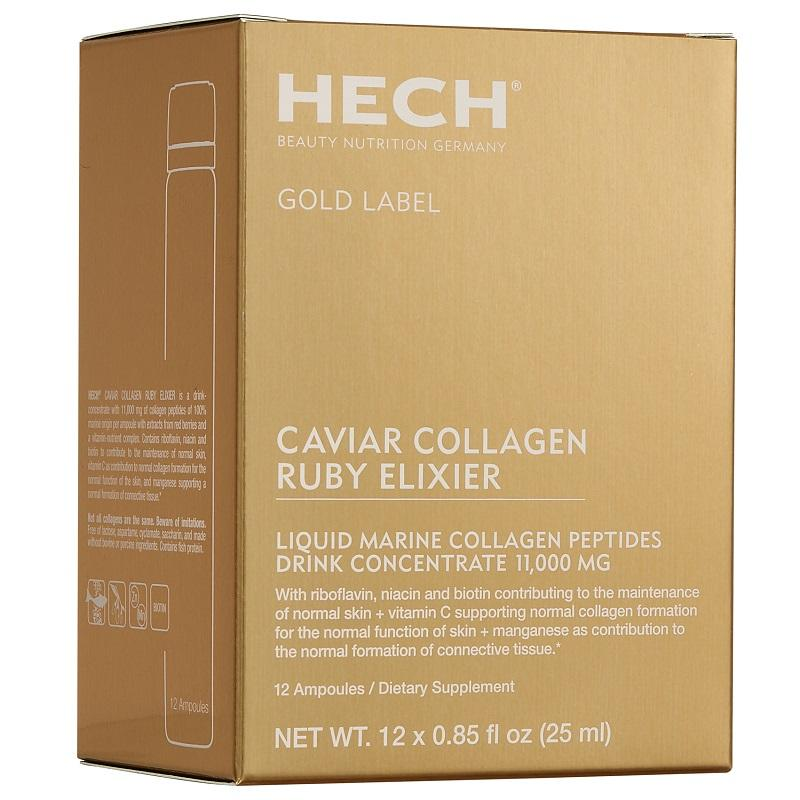 """<p><strong>Hech </strong></p><p>hechusa.com</p><p><strong>$81.00</strong></p><p><a href=""""https://hechusa.com/product/caviar-collagen-ruby-elixier/"""" target=""""_blank"""">Shop Now</a></p><p>There are a bazillion ingestible collagen products out there, but none more luxurious, nor giftable, than this: Each of these portable ampoules contains 11,000 milligrams of marine collagen, along with vitamins and minerals that support healthy skin. The ruby color—and delicious taste—comes from black currant, blackberry, and goji fruit juice; suggested dose is one liquid serving per evening added to any beverage, and note—it's particularly delicious in champagne.</p>"""