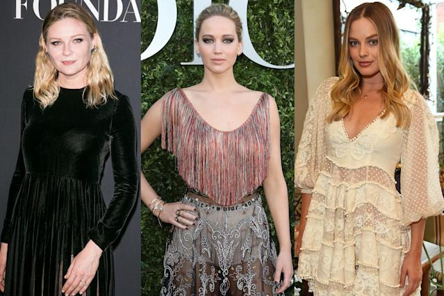 Kirsten Dunst, Jennifer Lawrence, and Margot Robbie have all refused to lose weight for jobs. (Photo: Getty Images)
