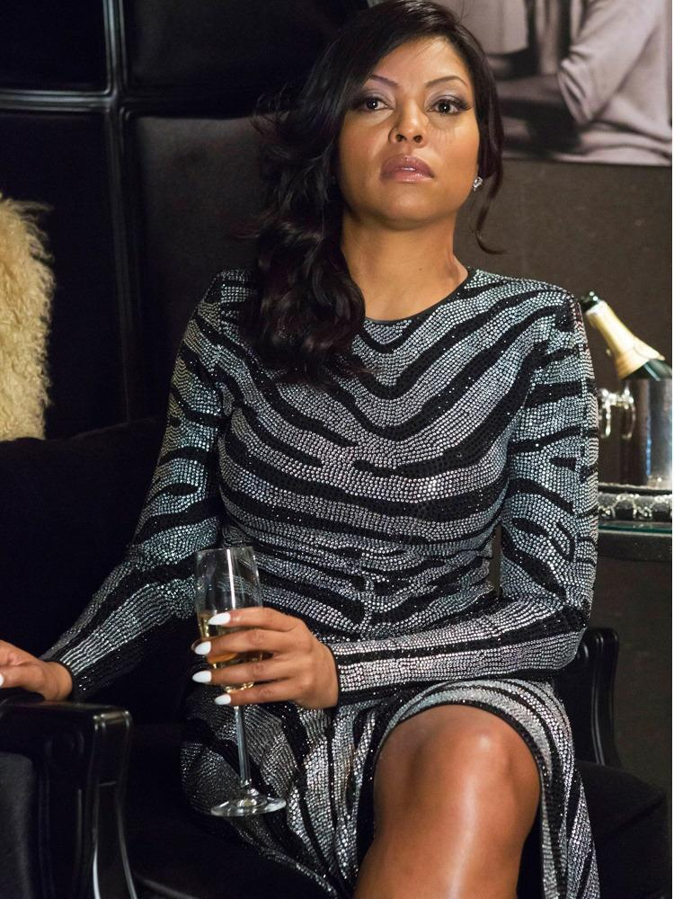 <p>It's kind of crazy how similar Cookie's zebra-print dress is to Carine's no? Same glitter, same fit, same slit in the front. We never quite pegged Ms. Lyons as a Francophile, but we've been wrong before! But where Roitfeld kept things cool with rumpled hair, Cookie glams it up with bombshell waves and a side part. This girl's got a fresh blowout, and she's not about to sleep on it anytime soon. </p><p><i>Photo Courtesy: FOX</i></p>