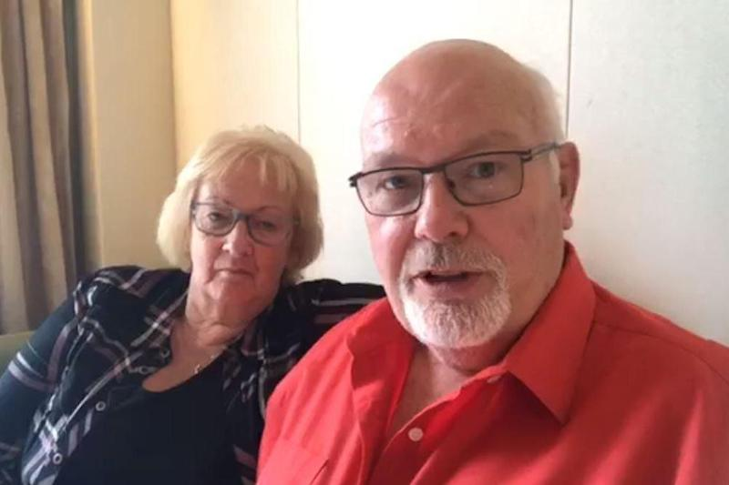 Global interest: David Abel, who is on board Diamond Princess with his wife Sally, has been posting updates on social media