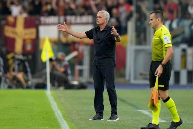 Roma coach Jose Mourinho tasted defeat to Lazio in the Rome derby