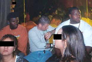 Nevin Shapiro is shown in 2003. From left to right are Devin Hester, Shapiro and Vince Wilfork. (Special to Yahoo)