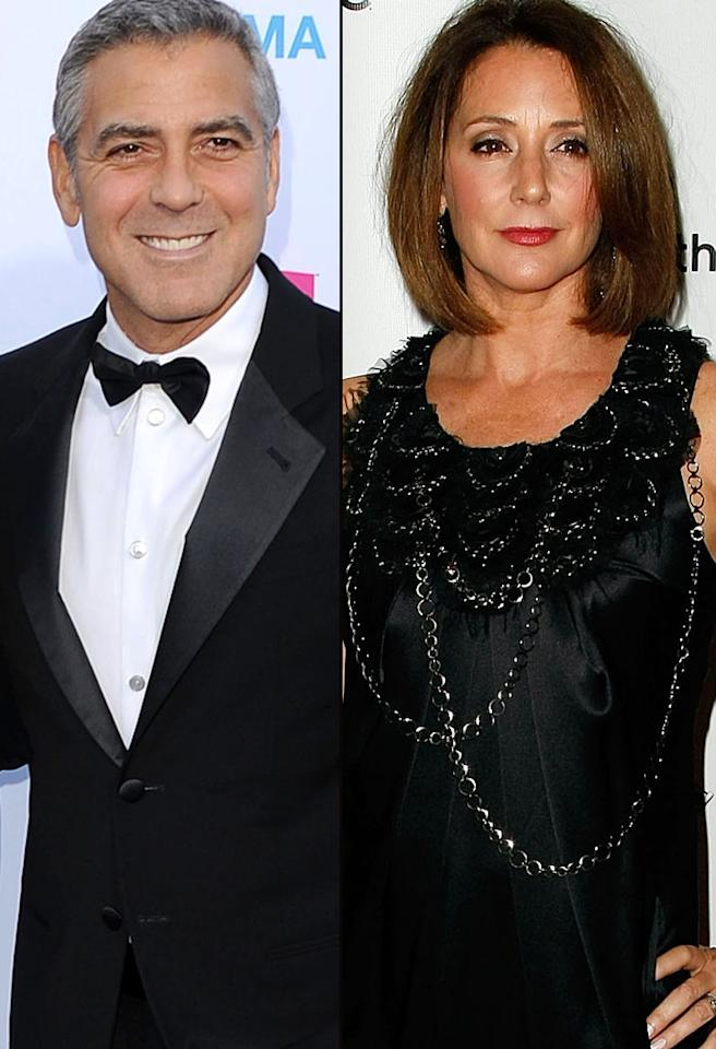 "In 1989, following his split from Preston, Clooney tied the knot with ""Mad Men"" actress Talia Balsam -- who was two years older than him! Four years later, the couple divorced, which left Clooney with a fear of marriage. But not Balsam. In 1998, she said ""I do"" to another gray-haired hunk: John Slattery, who plays her TV husband on ""Mad Men."""