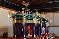 """<p>In 2019, then-Emperor Akihito chose to abdicate, leaving his son Naruhito as the 126th emperor to ascend the Chrysanthemum Throne. He and Masako were <a href=""""https://www.townandcountrymag.com/society/tradition/g29516694/emperor-naruhito-enthronement-ceremony-japan-photos/"""" rel=""""nofollow noopener"""" target=""""_blank"""" data-ylk=""""slk:officially enthroned"""" class=""""link rapid-noclick-resp"""">officially enthroned</a> at a formal ceremony in Tokyo in October 2019. <br></p>"""