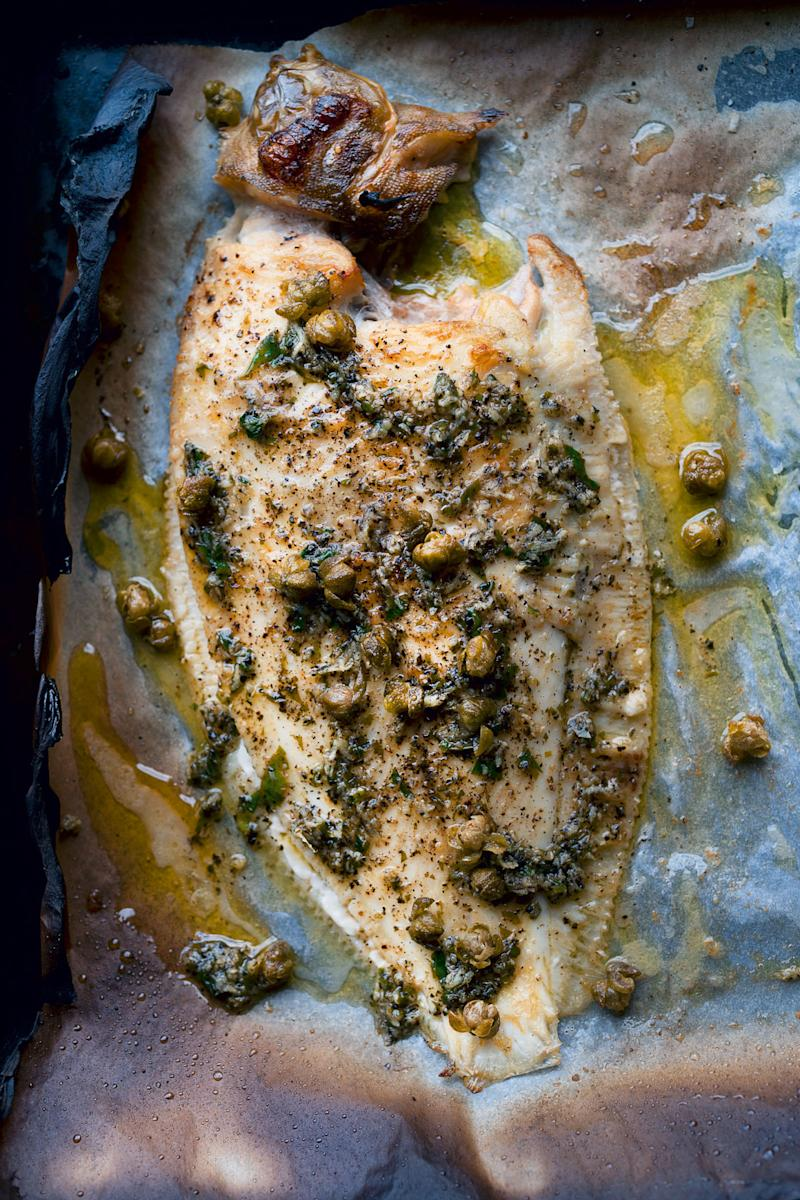 Lemon sole with burnt butter nori and fried capers from nopi forumfinder Image collections
