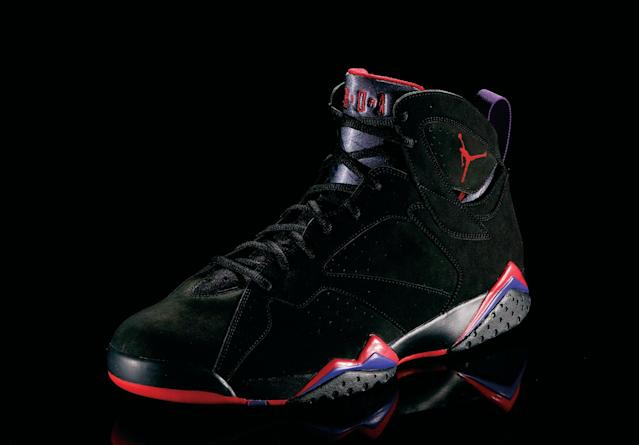 "<p>Air Jordan VI - ""Promised Land"" (1991): Featuring a Porsche-inspired pull tab, MJ won his first NBA championship in these shoes. (Photo Courtesy of Nike)</p>"