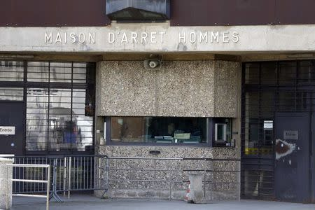 General view of the entrance to the men's building at the Fleury-Merogis prison, near Paris, in this May 14, 2014 file picture. REUTERS/Charles Platiau
