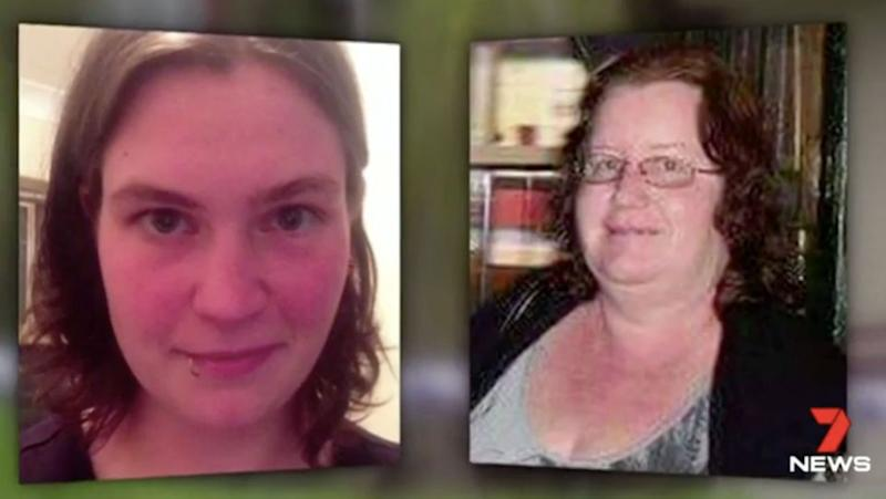 Trudi Lenon, right, was attacked in prison; pictured left is Jemma Lilley, with whom she carried out a murder that shocked WA. Source: 7 News