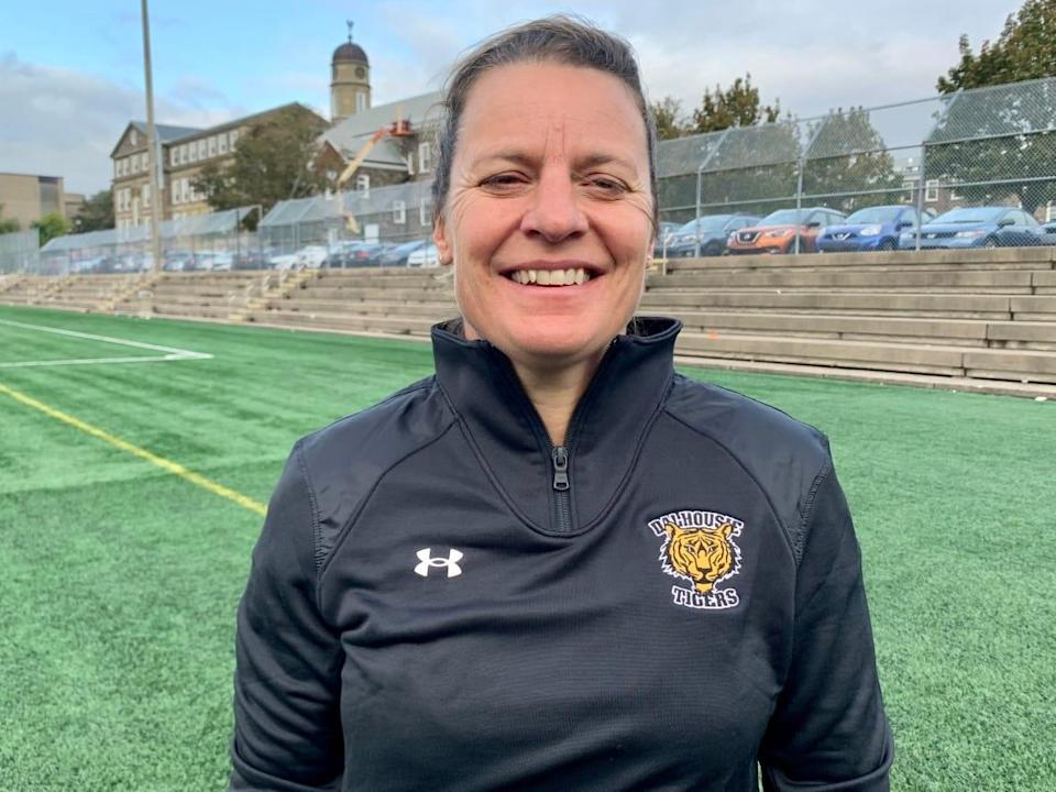 Dalhousie women's soccer coach Cindy Tye was recently named the coach of Canada's under-20 women's soccer team. (Paul Palmeter/CBC - image credit)