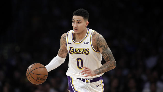 "<a class=""link rapid-noclick-resp"" href=""/nba/players/5840/"" data-ylk=""slk:Kyle Kuzma"">Kyle Kuzma</a> is ready to take the next step in his career. (AP Photo/Marcio Jose Sanchez)"