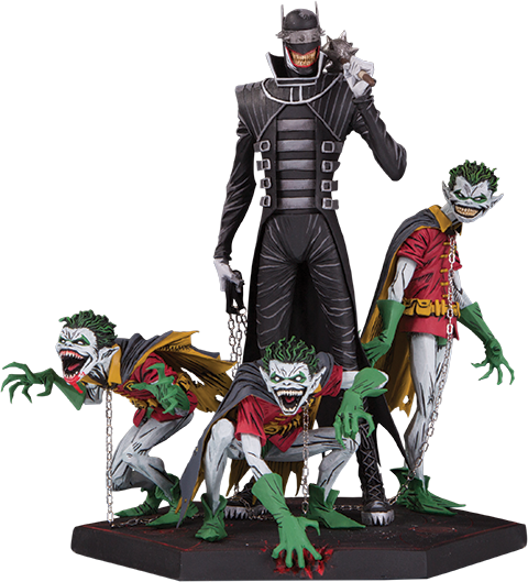 The Batman Who Laughs and Robin Minions Deluxe (Photo: Sideshow Collectibles)