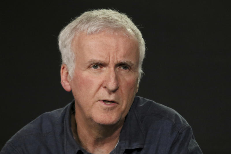 James Cameron presents the 'James Cameron's Story of Science Fiction' series during the AMC Television Critics Association Winter Press Tour on Saturday, Jan. 13, 2018, in Pasadena, Calif. (Photo by Willy Sanjuan/Invision/AP)