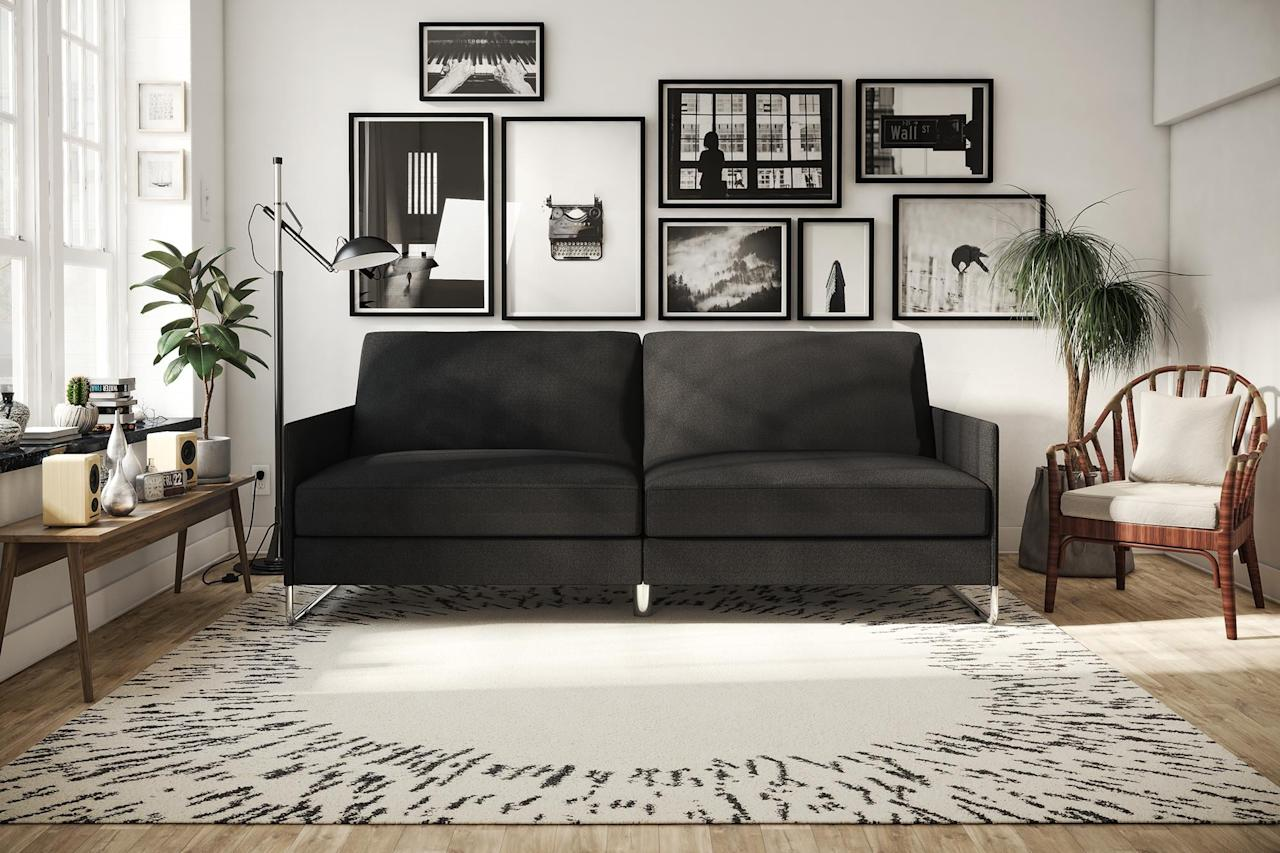 """<p>This <a href=""""https://www.popsugar.com/buy/DHP-Pembroke-Sofa-Bed-490978?p_name=DHP%20Pembroke%20Sofa%20Bed&retailer=walmart.com&pid=490978&price=249&evar1=casa%3Aus&evar9=45974840&evar98=https%3A%2F%2Fwww.popsugar.com%2Fphoto-gallery%2F45974840%2Fimage%2F45975176%2FDHP-Pembroke-Sofa-Bed&list1=shopping%2Cfurniture%2Cwalmart%2Csofas%2Cliving%20rooms%2Chome%20shopping&prop13=api&pdata=1"""" rel=""""nofollow"""" data-shoppable-link=""""1"""" target=""""_blank"""" class=""""ga-track"""" data-ga-category=""""Related"""" data-ga-label=""""https://www.walmart.com/ip/DHP-Pembroke-Sofa-Bed-Multiple-Colors/55488992?selected=true"""" data-ga-action=""""In-Line Links"""">DHP Pembroke Sofa Bed</a> ($249) is great if you always have guests.</p>"""