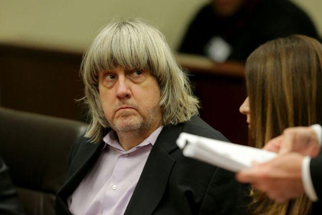 David Allen Turpin, accused of holding 13 children captive, appears in court. Source: Getty