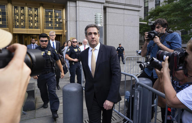 Michael Cohen, former personal lawyer to President Trump, leaves federal court in New York after reaching a plea agreement on Aug. 21, 2018. (Photo: Craig Ruttle/AP)